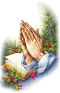 christmas praying hands